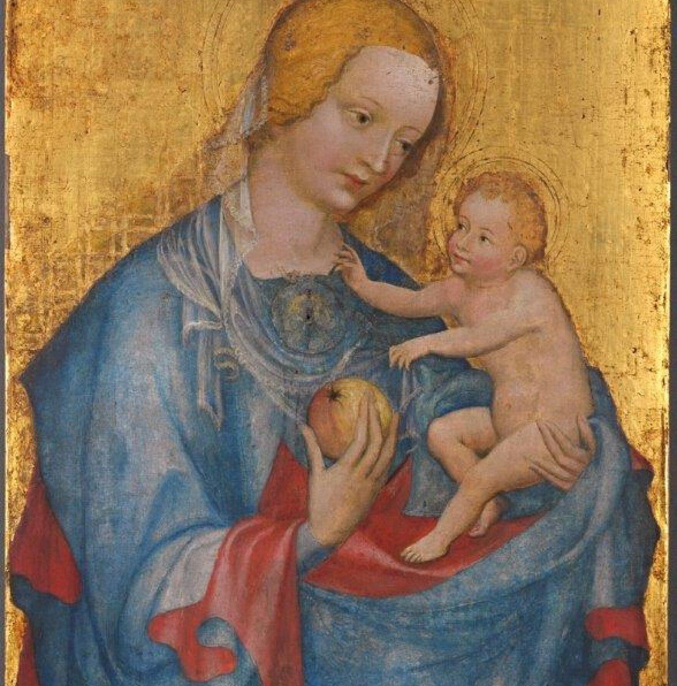 Meister der Benediktbeurer Madonna, »Maria mit dem Kinde« 1. Viertel des 15. Jhs., ca. 44 x 34 cm, Alte Pinakothek. <br>© Sibylle Forster, Bayerische Staatsgemäldesammlungen