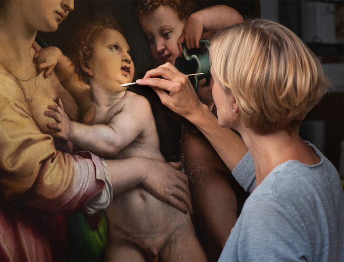 """Restaurierung eines Holztafelgemäldes von Giulio Romano <br><span style=""""font-family:CorporateS-Regu; font-size:0.7em;color: #517071;"""">Mehr lesen…</span>"""